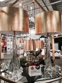 Spotted by @LoriGilder...The most elegant and sophisticated Murano Glass lamps with gilded gold shades. A welcome addition to any living space, bedroom or parlor! these stunners from Louise Gaskill!  #HPMKT #HPMKTSS Louise Gaskill Company: Suites at Market Square M-4001
