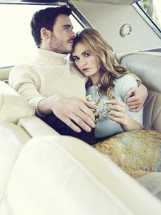 Richard Madden and Lily James by Williams & Hirakawa for People Magazine, March 2015