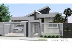 Ideas For Exterior Modern Design Fence Best Exterior Paint, Modern Exterior, Exterior Design, Modern Fence Design, Modern House Design, Front Wall Design, Modern Bungalow House, House Elevation, House Entrance
