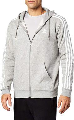 Voll weich  Bekleidung, Herren, Streetwear, Pullover Full Zip Hoodie, Hooded Jacket, Streetwear, Athletic, Pullover, Hoodies, Jackets, Fashion, Stripes