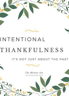 FREE PRINTABLE: Choosing to also be thankful for the future