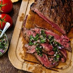 Brazilian Flank Steak |    Ingredients:    1 Teaspoon Ground Cumin  ½ Teaspoon Kosher Salt  ½ Teaspoon Freshly Ground Black Pepper  4 Garlic Cloves (grated or finely minced)  ½ Small Red Onion (finely chopped)  Handful of Cilantro (leaves finely chopped)  1 Serrano Chile (finely minced)  ⅓ Cup Lime Juice  ½ Cup Olive Oil  2 Pounds Flank Steak