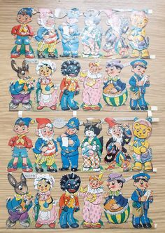 Vintage 1961 Noddy Big Ears & Friends Sheet by HarrysCollectables