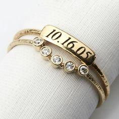 55a2c462f Memories Ring [14K gold] by Keren Wolf Fashion Rings, Memories, Bling,