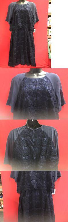 Dresses 63861: Anne Klein Women S Lace Chiffon Short Sleeve Sheath Dress Size 12 -> BUY IT NOW ONLY: $39.99 on eBay!