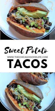 Sweet potato tacos are a great, meatless meal ready in less then 30 minutes or less. Perfect for a weeknight. Click the link for other meatless meal recipes.