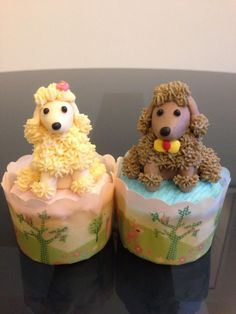 Poodle cupcakes R.W. Cakes