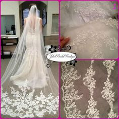 Hey, I found this really awesome Etsy listing at https://www.etsy.com/listing/272274688/cathedral-length-lace-mantilla-veil-lace