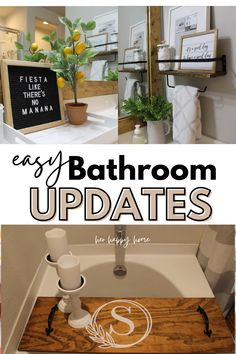 If you want some update sfor your bathroom, here are some aesthetically pleasing home bathroom decor ideas so you can decorate your bathroom in a modern way! #bathroom Bathtub Decor, Simple Bathroom, Bathroom Wall Decor, Budget Bathroom, Bathroom Ideas, Small Wall Decor, Bathroom Interior, Home Decor Furniture, Home Decor Items