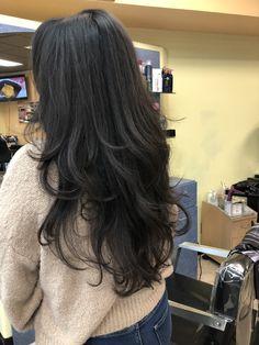 Haircuts For Long Hair Straight, Black Hair Haircuts, Layered Haircuts For Medium Hair, Straight Layered Hair, Haircut For Thick Hair, Cut My Hair, Medium Hair Styles, Long Hair Styles, Black Hair Layers