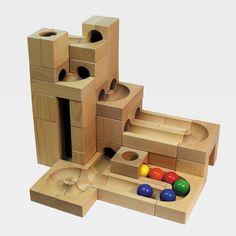Kaden Große Kugelbahn im Kasten aus Holz Größe M | Öko-Spielzeug & Holzsspielzeug - schadstofffrei und pädagogisch wertvoll