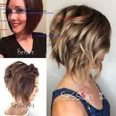 Short Layered Haircuts 2018 – 2019 - The UnderCut Pretty Hairstyles, Bob Hairstyles, Hair Origami, Medium Hair Styles, Curly Hair Styles, Flat Iron Curls, Short Layered Haircuts, Hair Affair, Hair Painting
