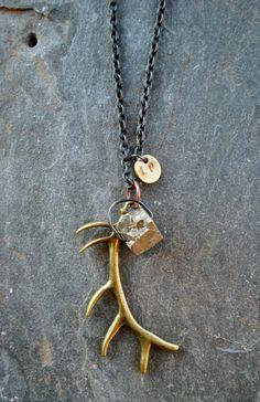Image of elk antler treasure necklace