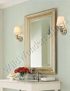 Generous Vintage Brass Art Nouveau Framed Mirror Table Vanity Art Nouveau Periods & Styles