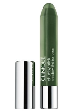 #Emerald for eyes! Clinique 'Chubby Stick' Shadow Tint #Nordstrom #Beauty #ColoroftheYear