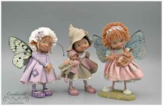 fairy puppets / fotogalerij | enaidsworld Biscuit, Polymer Clay Christmas, Clay Baby, Fairy Dolls, Felt Dolls, Cold Porcelain, Cubbies, Puppets, Photo Art