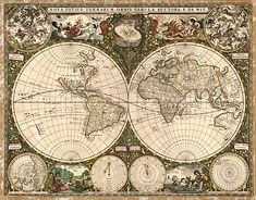 23 best old world map printable images on pinterest antique world 1660 old world antique map gumiabroncs Images