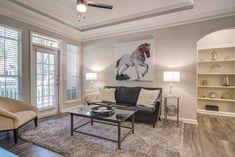 Luxury Apartments In Atlanta Luxury Apartments, Dining Bench, Atlanta, Artisan, Gallery Wall, Rest, Homes, Garages, Refrigerator