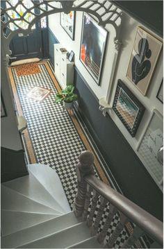 hallway inside house decor inspiration and concepts. Victorian Terrace Hallway, Edwardian Hallway, Edwardian Staircase, The Frugality, Tiled Hallway, Hall Tiles, Flur Design, Hallway Colours, Hallway Designs
