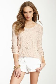V-Neck Sweater by Love Stitch on @HauteLook