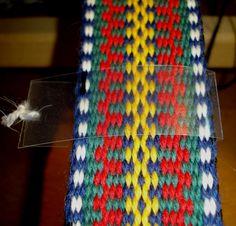 For å holde jevn bredde gjennom hele båndet kan det være greit å ha noe å måle med. Ta å brett en plast-strimmel slik at den er litt bredere enn båndet, legg den rundt båndet og fest plaststrimmel-endene sammen med en tråd. Sett en strek på plast-strimmelen ved ønsket bredde.
