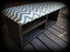 42 Upholstered Shoe Rack with Cubby Bench by TheHenryHouse