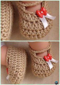 Crochet Posh Baby Booties Free Pattern Video - #Crochet Baby Booties Slippers Free Pattern