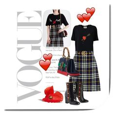 Pazza di te (mad about you) by goldencat on Polyvore featuring polyvore, fashion, style, Gucci, clothing, love and gucci
