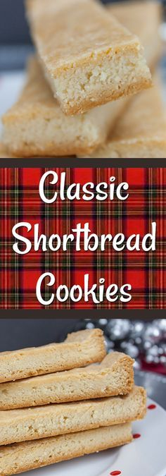 Classic Shortbread Cookies - Tender, buttery, flaky shortbread!