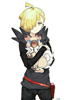 Gladion with a rickruff <3 <3