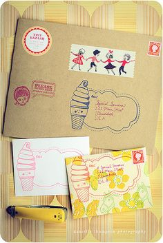 *Happy Mail* Clear Stamps. I want to make stationary like this.