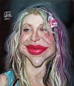 Caricatura de Courtney Love. by Por Vicent Altamore