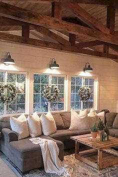 29 Perfect Farmhouse Living Room Lighting Ideas Decor And Design. If you are looking for Farmhouse Living Room Lighting Ideas Decor And Design, You come to the right place. Here are the Farmhouse Liv. My Living Room, Home And Living, Living Room Decor, Living Room Furniture, Modern Living, Small Living, Modern Room, Decor Room, Rustic Furniture