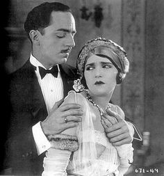 """William Powell in """"Dangerous Money"""" 1924, with Bebe Daniels courtesy Christian Anderson collection"""