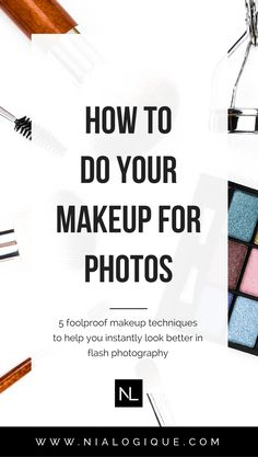 5 Makeup Techniques To Help You Look More Photogenic | Whether you're part of a wedding or having a photoshoot, it's important to apply appropriate makeup techniques when using flash photography. Otherwise, you run the risk of having flashback (the white cast you can get in photos) and a handful of other types of makeup faux-pas. Click through to see the top 5 ways you can make your makeup look its absolute best in every upcoming photo you take! | beauty tips, makeup tips, makeup hacks…