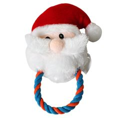 Christmas Pet Dog Plush Toy Santa Claus with Rope Cotton Puppy Cat Festival Gift for Small Dog Indoor Playing Chew Toy >>> Check out this great image  : Christmas Presents for Cats