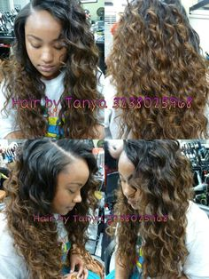 Celebrity hairstyle... Curly weave