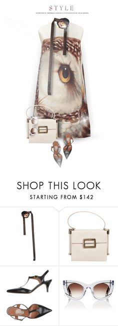 """""""Owl"""" by monazor ❤ liked on Polyvore featuring Missoni, Roger Vivier, L'Autre Chose, Thierry Lasry, dress, owl, womenfashion and summer2017"""