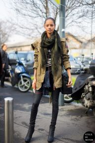 Milan Fashion Week FW 2014 Street Style: Malaika Firth