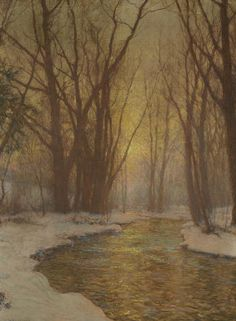 Walter Launt Palmer (American, 1854-1932) Winter Landscape 32 x 24in