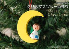 【楽天市場】クリスマスツリーの飾り オーナメント 月の天使 イエロー ドイツの木のおもちゃ 【あす楽対応】 ザイフェン ドイツ:ヨーロッパ輸入雑貨Euro-selection