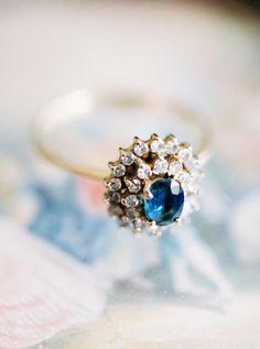 Vintage Sapphire Ring: http://www.stylemepretty.com/2015/06/28/vintage-inspired-wedding-details-we-love/