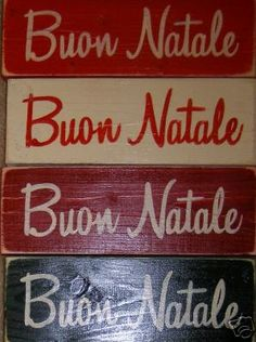 Buon Natale Merry Christmas in Italian Sign Plaque HP Wood Holidays U Pick Color. $17.95, via Etsy.