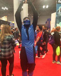 Awesome #SubZero #cosplay! #MortalKombat #Frosty #cosplayer #NewYorkComicCon #NewYorkComicCon2015 #NYCC #NYCC15