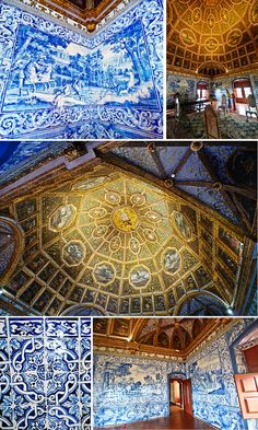 Visiting the Sintra National Palace in Portugal - via cheeseweb.eu June 6 2012 | This is the first of 3 palaces we visited in Sintra, Portugal. Photo: Sala dos Brasões or Blasons Hall