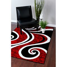 persianrugs modern swirl red area rug u0026 reviews wayfairca