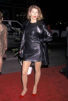 Actress Christine Baranski attends the 'Titanic' Hollywood Premiere on December 14 1997 at the Mann's Chinese Theatre in Hollywood California Sexy Older Women, Sexy Women, Cool Tights, Leder Outfits, Leather Dresses, Good Looking Women, Lovely Legs, Hair Pictures, Sexy Legs