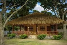 Inspiring Bahay Kubo Exterior Design Tool with Modern Bahay Kubo Design : Captivating Bahay Kubo Exterior Design Tool With Wooden Railing Trees Lawn Wooden Pillars For Modern Bahay Kubo Design And Bahay Kubo Design Concept