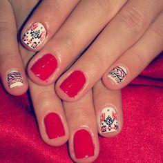 Nails art, traditional models