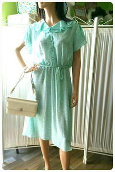 1970s Spearmint Green Chiffon Dress by TheBohemianEffect on Etsy